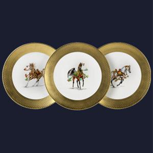 Assiettes chevaux