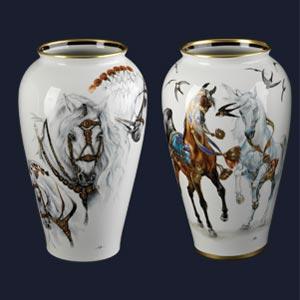 Vase chevaux